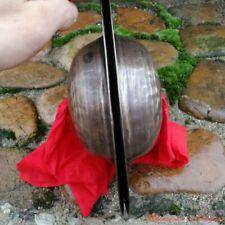 "11"" Pair Tibetan Temple Ritual Bell Bronze Cymbals Hand Bell Relic Hallows#1524"