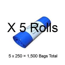"1,250 Dog Poop Bags 5 Rolls 3/4mil Thick Biodegradable Pet Waste 8"" X 14"" #11.5"
