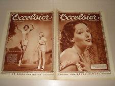 EXCELSIOR=14 DICEMBRE 1932=LUPE VELEZ=MARY CARLISLE MURIEL EVANS=COVER MAGAZINE