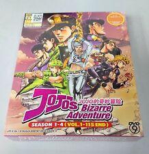 JOJO'S BIZARRE ADVENTURE Complete Anime Season 1 - 4 TV Ep.1 - 115 End DVD Box
