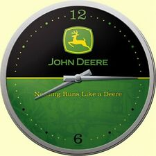 John Deere Nostalgie Wanduhr Glas,31 cm Wall Clock,Neu