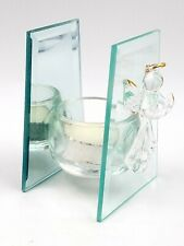 Clear Glass Mirrored Angel Votive Candle Holder Christmas Holiday Decor