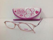 Barbie Occhiale Da Vista Mod 51 bambina rosa Viola Ovale Metallo largo 12,3cm