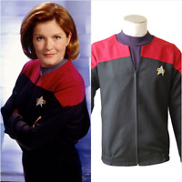 Star Trek Voyager Command Cosplay Costume Red Color Shirt Jacket Uniform