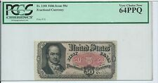 5th Issue Red Seal 50 Cents United States Fractional Currency Pcgs 64Ppq Fr1381
