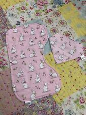 Bunny Pink baby burp cloths feeding Winding Cloths