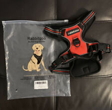 Small Dog Harness No Pull Dog Harness RABBITGOO Red
