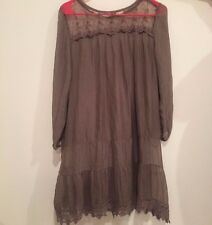 Prontomoda GIUSY CROCHET VINTAGE Silk Tunic Dress