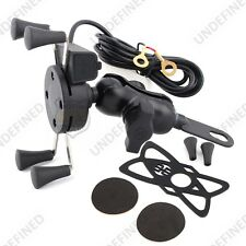 Motorcycle Mirrors X-Grip 3.5-6 Inch Cell Phone Mount Holder USB Port For Honda