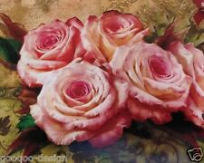 Stickpackung Vintage Rosen 58x47 cm Kreuzstich Blumen Stickbild Roses DIY #80252