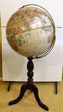 "VGUC National Geographic 16"" Globe by Replogle Wooden Tripod Base Pickup OK"