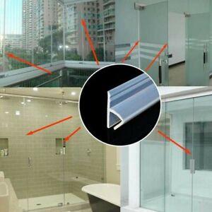200cm Water Seal Strip Shower Door Frameless Glass Door Bottom Wipe 6/8/10/12mm