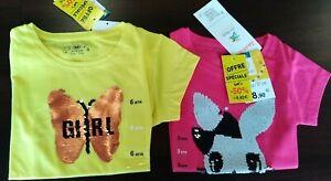 N313/ Lot Revendeur Tee shirts paillette Fille - 16 pièces, Déstockage, Solderie