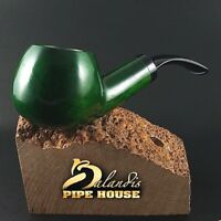 "Outstanding Mr.Balandis original Hand made smoking pipe ""SPARROW"" smooth NEFRYT"