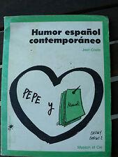 Humor espanol contemporaneo - Jean COSTE