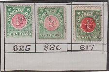 (RB35) 1902 NZ ½d, 1d, 2d postage dues owD18, 30& 22a