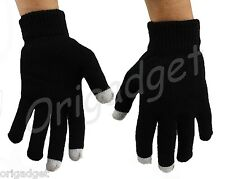 GLOVES TOUCH SCREEN SMARTPHONE IPHONE IPAD IPOD TABLET CONDUCTIVE GLOVES black L
