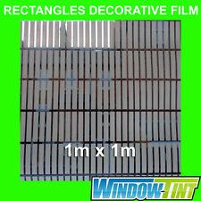 RECTANGLES DECORATIVE PRIVACY HOME WINDOW FILM - 1m x 1m Roll