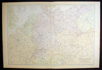 1870 Blackie & Son Large Antique Map of Central Europe - France to Poland
