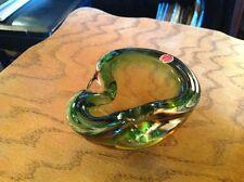 Moss-color Murano ashtray