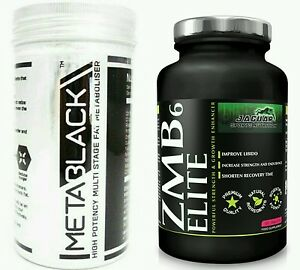 MetaBlack- M3 - 60 Capsule - High potency multi stage fat burner & ZMA