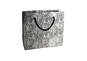 Zebra Skin Design Gift Bags Black & Silver Large Medium Small Women Birthday