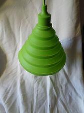 abat jour lampe silicone vert  douille e27 1 metre de fil et plafonnier