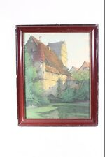 muy hermoso viejo Marco De Madera Para Foto con Cuadro Mühle Molino la ciudad