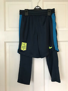 Boys Nike Dri-fit Shorts With Leggings Age 10-12 Years