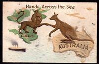 Australia - UK Hands Across the Sea Postcard 1932 WS18312