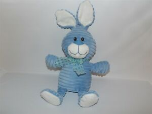 "VHTF 18"" Dan Dee Plush Blue BUNNY Rabbit w/ Checkered Ribbon (*54)"