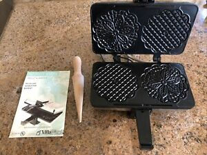 VillaWare Prego Pizzelle Baker 3600-NS NonStick Waffle Iron Holiday Cookie Maker