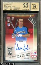2017 Topps Now Red #346D Aaron Judge Yankees RC Rookie AUTO /10 BGS 9.5 GEM MINT