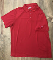NIKE GOLF Mens DRI-FIT Extra Large Solid Red Short Sleeve XL Athletic Polo Shirt