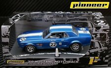 Pioneer Slot Car Ford Mustang Notchback P010 no22 in blue, mint unused