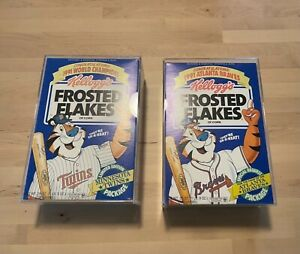1991 Baseball World Series (Twins v Braves) Frosted Flakes Commemorative Boxes