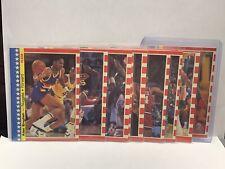 1987-88 Fleer Basketball Sticker Set #1-11 - Michael Jordan