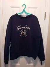 Vintage 90s Adidas Navy Blue New York Yankees Bootleg Sweatshirt Large Unisex