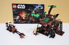 Lego Star Wars Ewok Attack (7956) with 3 Minifigs plus Instruction Manual