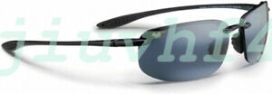 Pre-owned Maui Jim HOOKIPA Sport Sunglasses MJ 407-02 Gloss Black