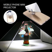 68C5 ABS Transparent Foldable 3D Projection Film for 3.5-6inch Phone Cinema