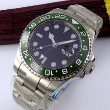 43mm PARNIS Sterile dial Date GMT Saphirglas Automatisch Movement Uhr mens Watch