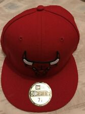 Men's Adidas 59fifty Orange Chicago Bulls Structured Fitted Hat- 57.7 Cm New