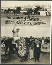 """1957 - BOLD RULER - 2 Photo Preakness Stake Composite - 8"""" X 10"""""""