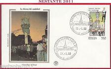 ITALIA FDC FILAGRANO GOLD SASSARI DISCESA DEI CANDELIERI 1988 TORINO Z271