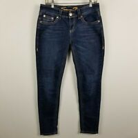 Seven7 Skinny Womens Dark Wash Blue Jeans Size 8