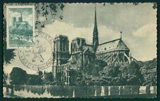 FRANCE MK 1947 PARIS NOTRE DAME CATHEDRAL CHURCH CARTE MAXIMUM CARD MC ei06