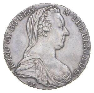 SILVER Roughly Size of Quarter 1780 Austria 1 Thaler World Silver Coin *856