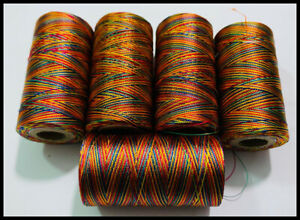5 X Silk Rainbow spools 100% Art Silk Rayon Machine Embroidery Thread | UK