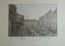 Carl Schütz Der Neumarkt Wien - Kunstblatt Reproduktion print